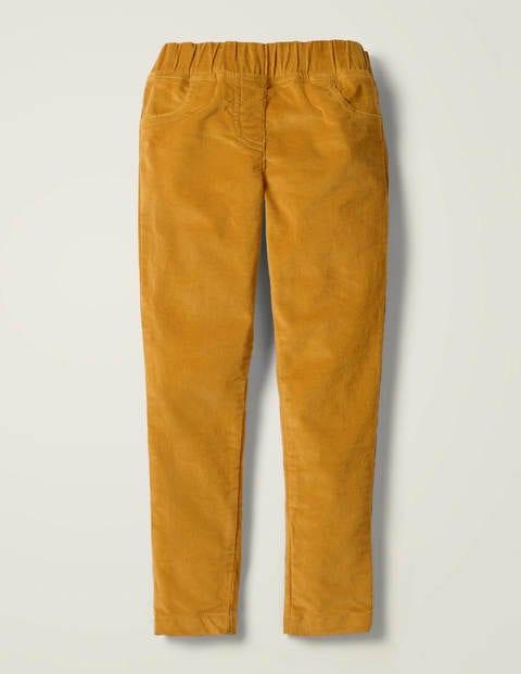 Cord-Leggings - Warmes Gelb
