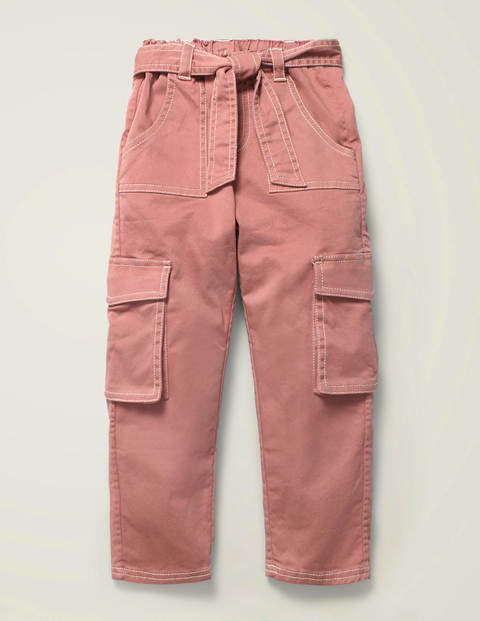 Cargo Trousers - Dusky Rose Pink