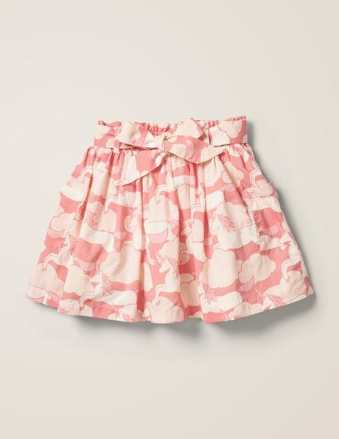 Tie-waist Printed Skirt