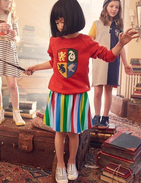 Jersey Skort - Multi Rainbow Stripe