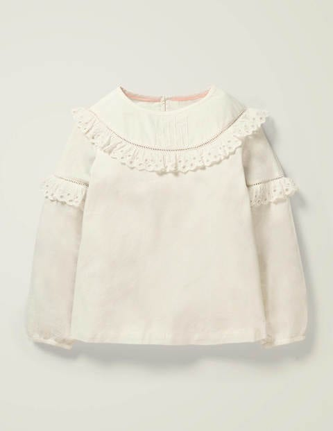 Frill Detail Woven Top