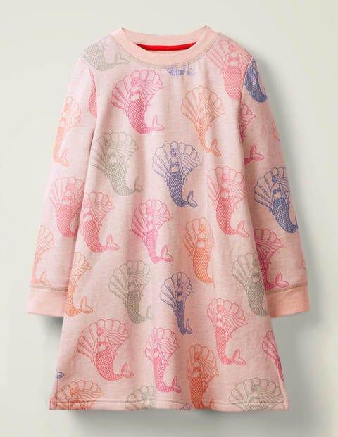Cosy Printed Sweatshirt Dress