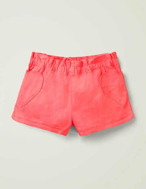 Short avec poche cœur - Rose corail
