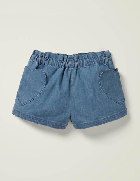 Heart Pocket Shorts - Denim