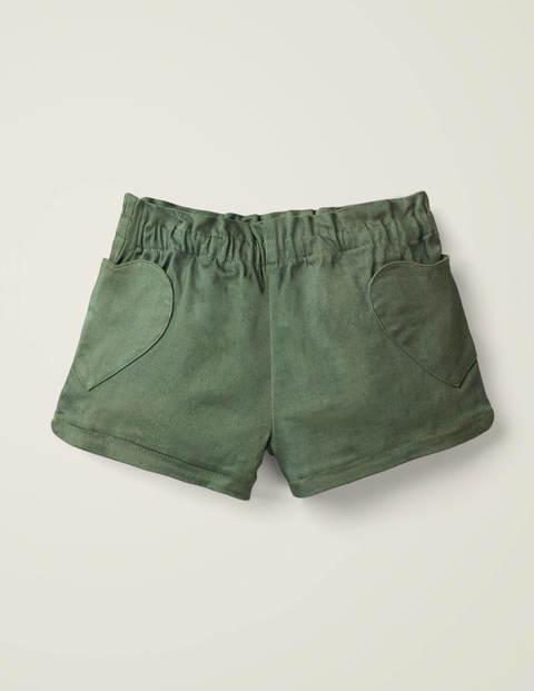 Heart Pocket Shorts - Herb Green