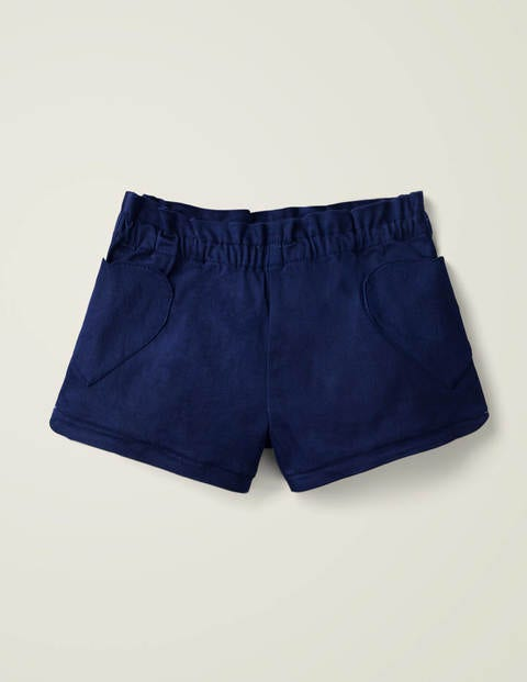 Heart Pocket Shorts - College Navy