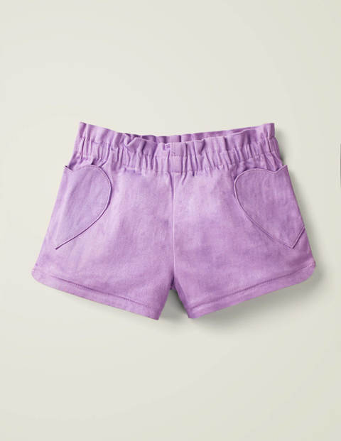 Heart Pocket Shorts - Cool Violet Purple