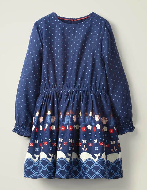 Kleid mit maritimem Muster