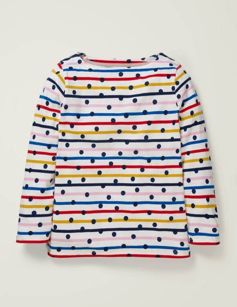 Everyday Breton - Rainbow Stripe/Navy Spot