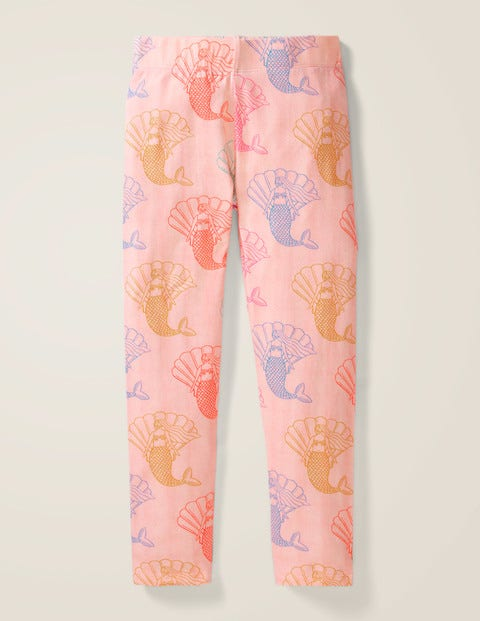 Fun Cosy Leggings - Pink Marl Mermaids