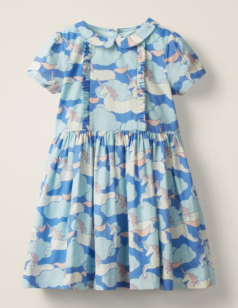 Nostalgic Collar Printed Dress