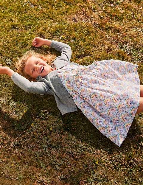 Vintage Dress - Ivory Daisy Rainbow