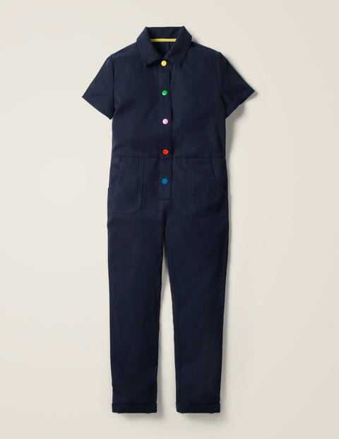 Appliqué Jumpsuit - College Navy