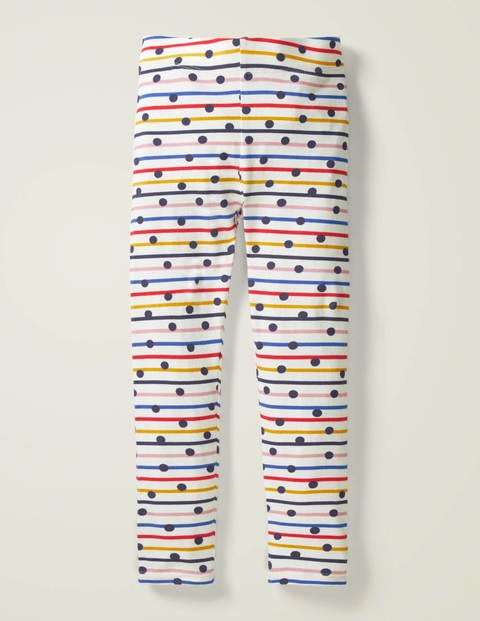 Fun Leggings - Rainbow Stripe/Navy Spot