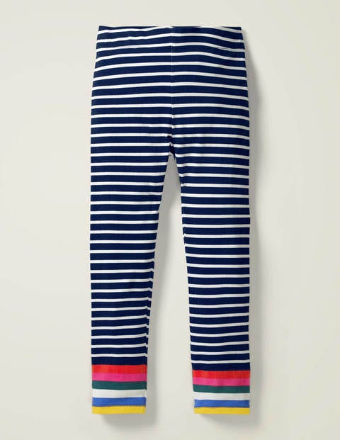 Fun Leggings - College Navy/Ivory Rainbow