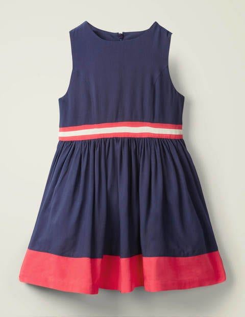 Sporty Woven Dress - College Navy