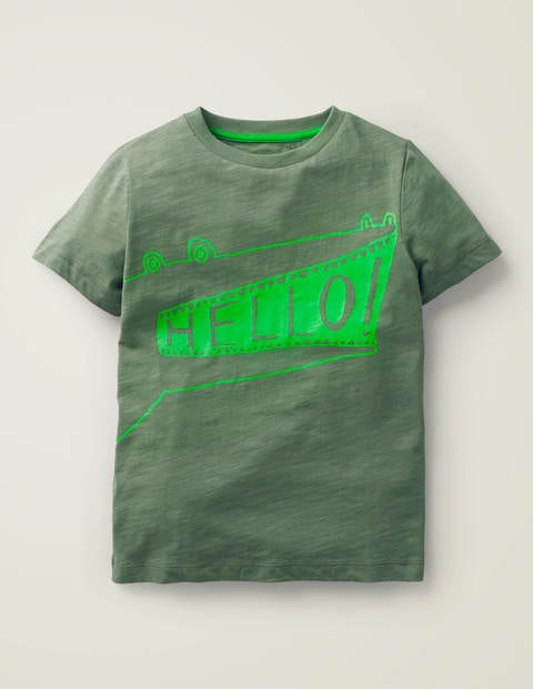 Mouthy Animals T-Shirt - Herb Green Crocodile
