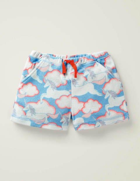 Towelling Shorts - Blue Unicorn Sky