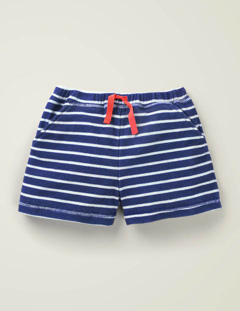 Towelling Shorts - College Navy/Ivory