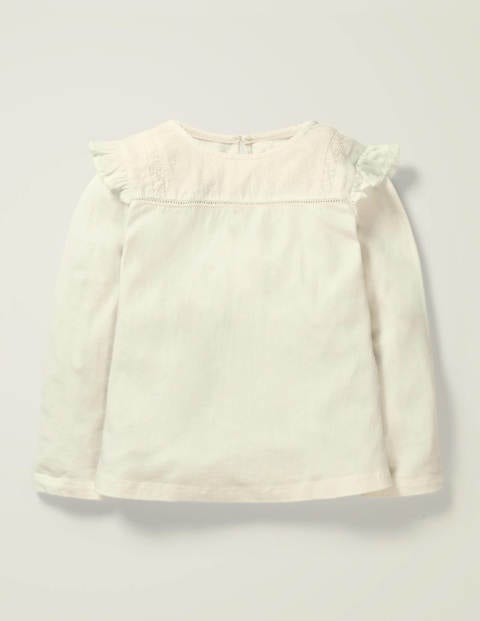 Frilly Jersey Top - Ivory