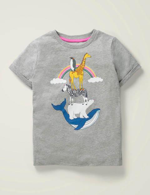 T-Shirt mit Weltenbummlermotiv