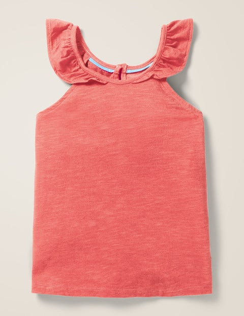 Frill Sleeve Vest - Watermelon Punch Pink
