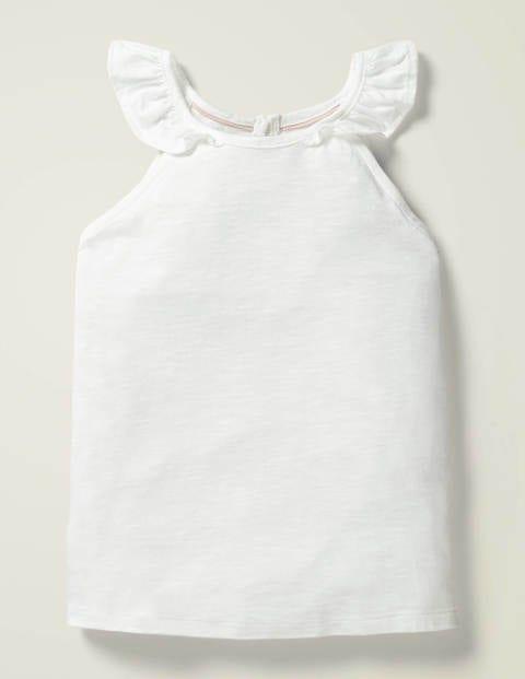 Frill Sleeve Tank - White
