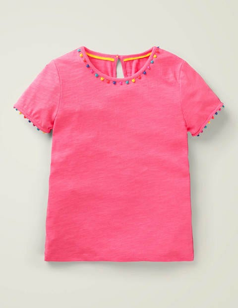 Mini Me Charlie Jersey T-Shirt - Bright Camellia Pink