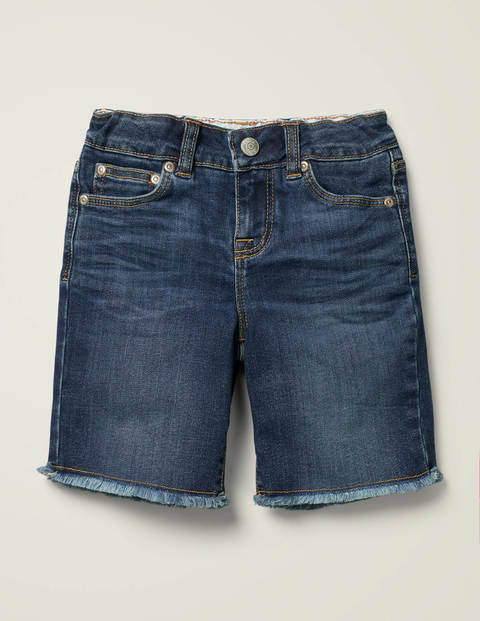 Long Denim Shorts - Mid Vintage
