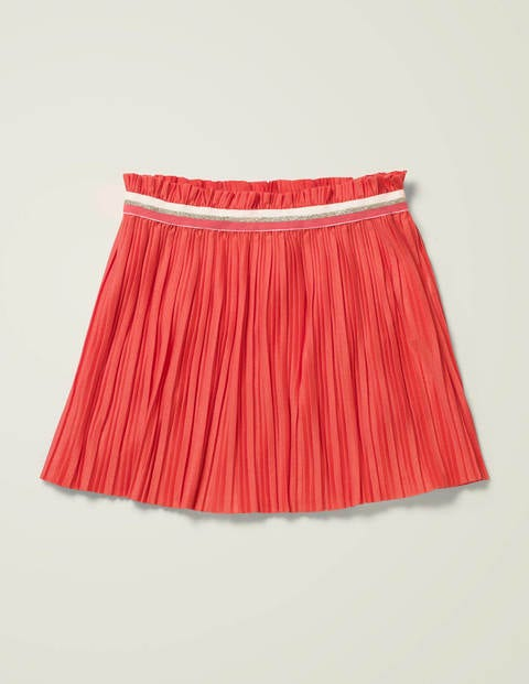 Sparkle Waist Pleated Skirt - Peach Melba Pink