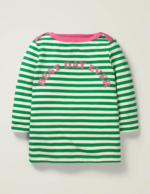 Best Day Ever Stripy Top - Emerald Green Best Day Ever