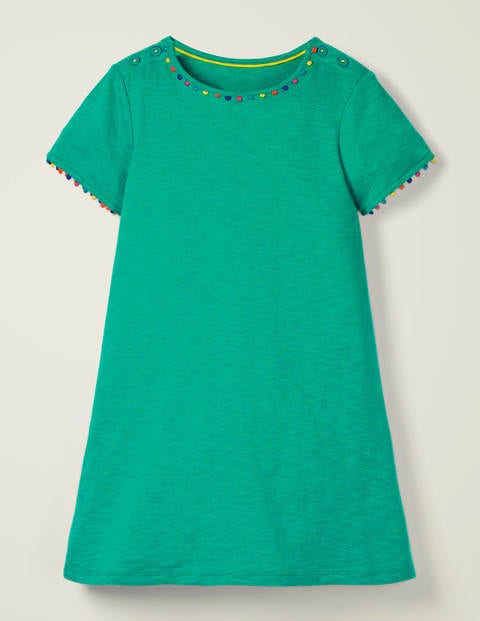 Mini Me Charlie Jersey Dress - Emerald Green
