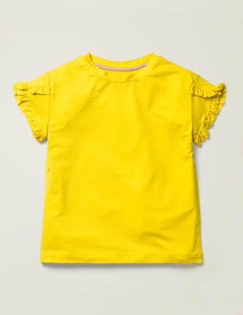 Frill Wrap Sleeve Top - Lemon Zest