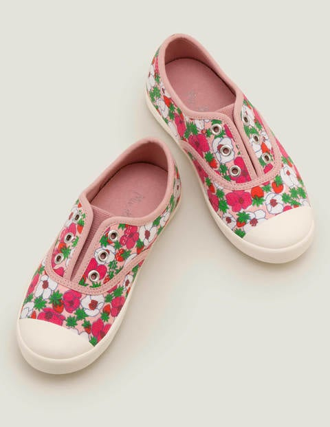 Laceless Canvas Pull-Ons - Boto Pink/White Berry Bloom