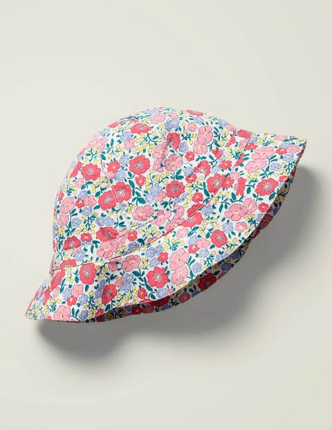 Woven Summer Hat - Multi Pink Flowerbed