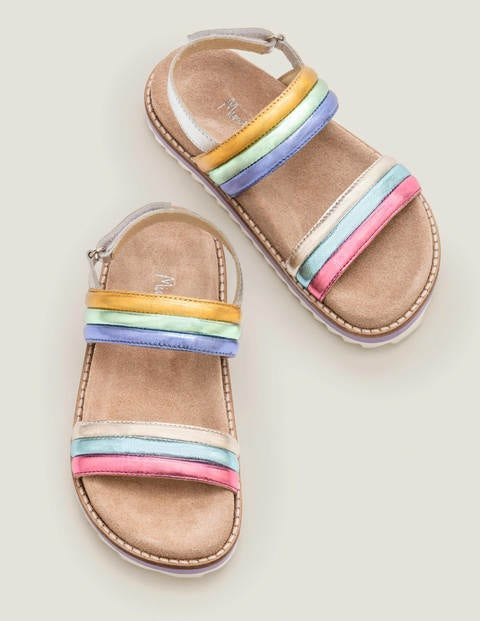 Rainbow Padded Sandals - Multi Rainbow