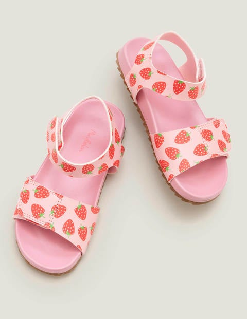 Water Resistant Aqua Sandals - Boto Pink Strawberries