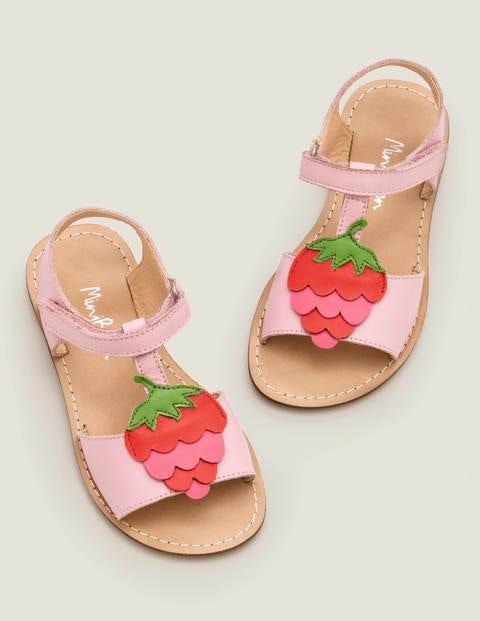 Fun Leather Sandals - Boto Pink Strawberry