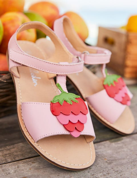 Fun Leather Sandals - Boto Pink Strawberry