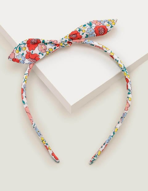 Bow Headband - Multi Pink Flowerbed