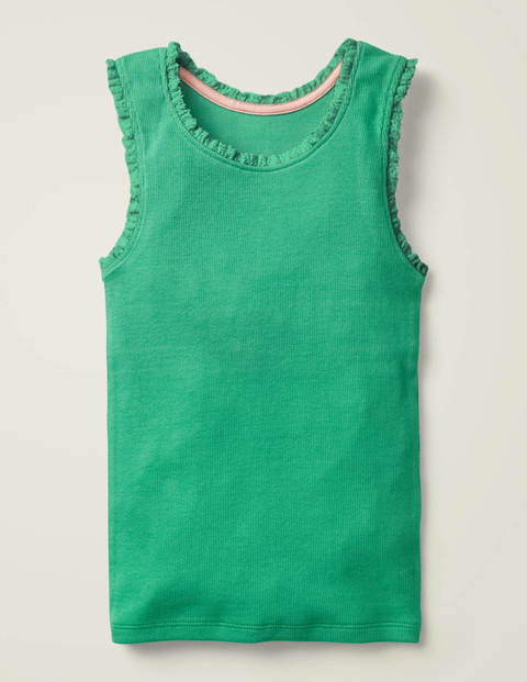 Lace Trim Ribbed Vest