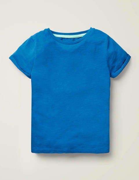 T-Shirt aus Flammgarn - Kräftiges Blau
