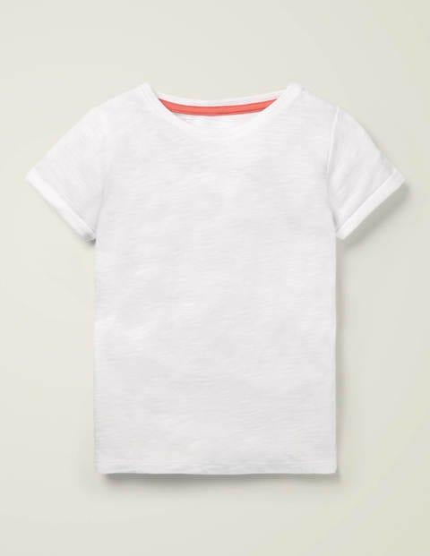 T-Shirt Aus Flammgarn - Weiß