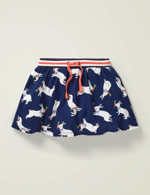 Jersey Skort - College Navy and White Bunny