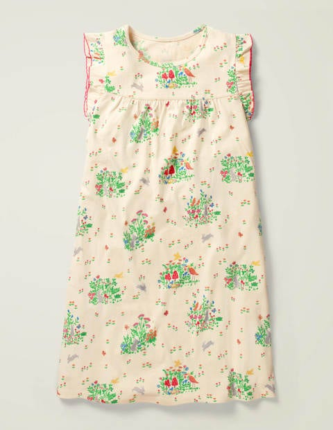 Printed Nightie - Multi Spring Scene