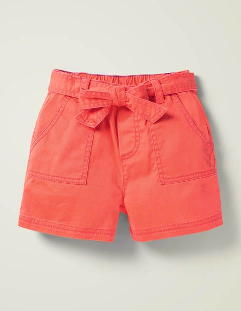 Tie-Waist Shorts - Peach Melba Pink