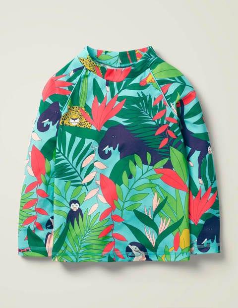 Long-sleeved Rash Guard - Multi Jumbo Jungle