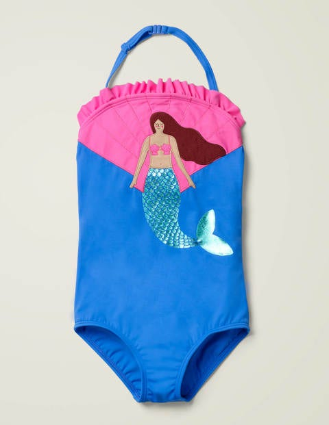 Appliqué Swimsuit - Blue Oasis Mermaid