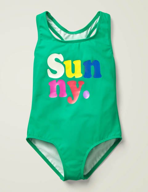 Fun Logo Swimsuit - Forest Green Sunny