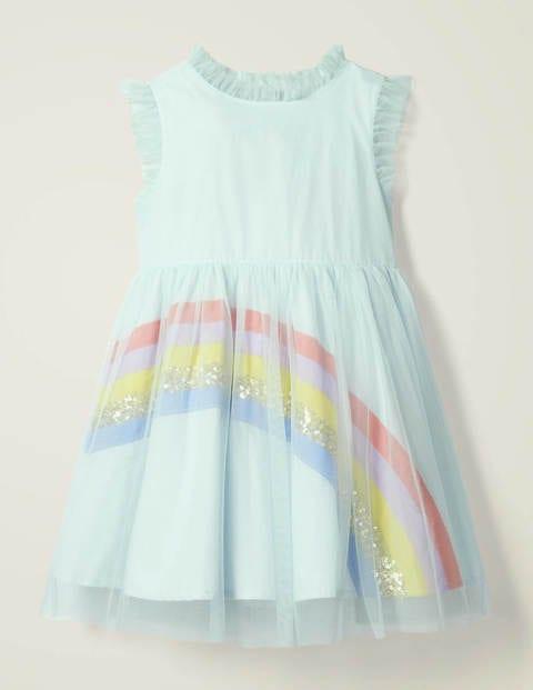 Rainbow Tulle Dress - Snowy Blue